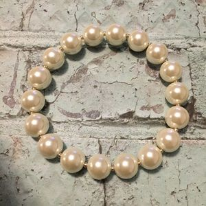 Charter Club Faux Pearl (8mm) Stretch Bracelet